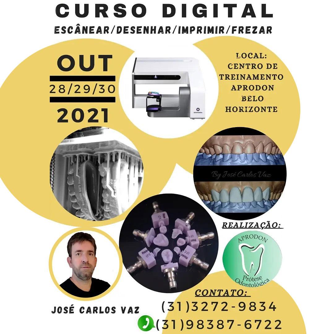 Curso Digital - Escanear, Desenhar, Imprimir, Frezar